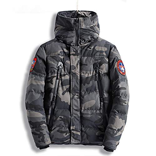 URPRU Piumino Invernale Caldo Giacca Casual da Uomo in Cotone Spessa Giacca Mimetica da Uomo Vestiti Spessi Camuffamento Militare Caldo-Un_XXL