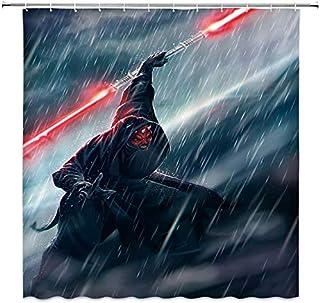 vrupi Cortinas de Ducha Star Wars Darth Moore Dark Terror Power Cool Comic Style Black 71x71inch Lavado de Tela Impermeable Que Incluye Doce Ganchos de plástico