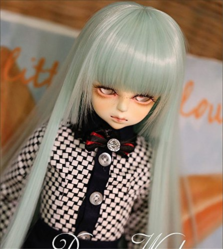 Tita-Doremi Ball-jointed Doll BJD Perücke Puppen Haarteil Für 1/4 7-8 inch Mini Dollfie SD10 MDD MSD Volks AOD Minifee DOD LUTS DZ Doll Green Doll Toy Head Wig Hair 1/4 7-8 inch 18-19cm (Perücke Nur,Keine Puppe )