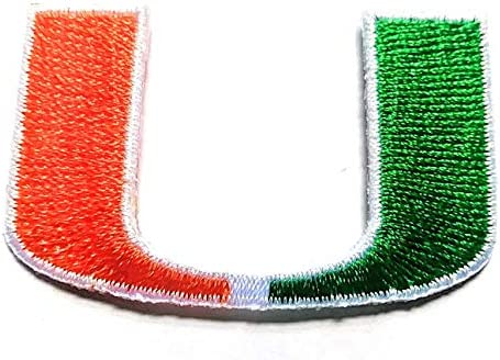 MIAMI HURRICANES IRON ON EMBROIDERED EMBROIDERY PATCH PATCHES SCHOOL OF UNIVERSITY STATE COLLEGE product image