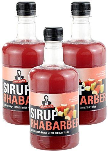 Sirup Royale mit Rhabarber-Geschmack, 3x 0,5 Liter, PET-Flaschen