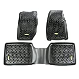 Outland 391298730 Black Front and Rear Floor Liner Kit For Select Jeep Cherokee Models