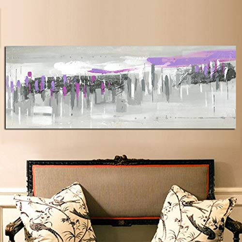 Print Canvas Pop Art Abstract Famous City Building Architecte Landscape Oil Painting Modern Wall Picture Poster For Living Room 40x120 CM (sin marco)
