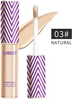 QIBEST Professional Makeup Contour Concealer Eyeshadow Primer, Full Wear Concealer, Full Coverage, NATURAL (3)