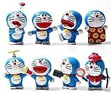 EASTVAPS Juguete 8 Piezas Doraemon Jingle Figura Juguete Modelo Mano DIY muñeca Adornos