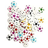 50 runde Form 2 Löcher Fußball-Holz Knopf zum Nähen Scrapbooking – zufällige Farbgeshig-