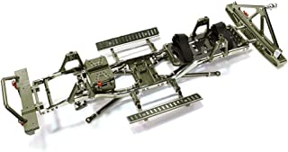 Integy RC Model Hop-ups C26936GUN Steel Ladder Frame Chassis Kit w/Hop-up Combo for SCX-10, Dingo, Honcho & Jeep