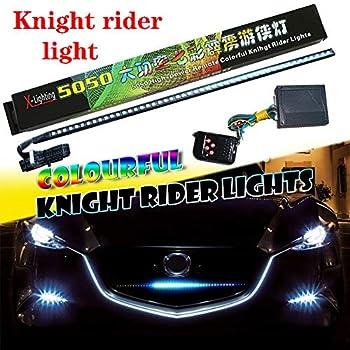 YSY 1set 23.3 inch RGB Knight Rider lights 48 5050 SMD Scanning Knight Rider Light Bar Strip W/Remote Control Turn Signal Third Brake Light M  RGB