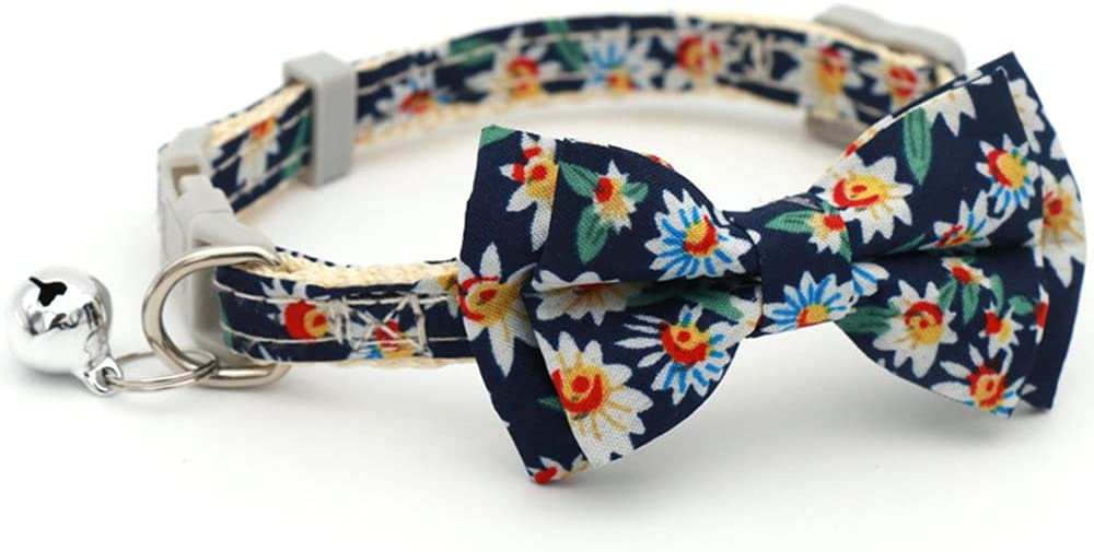 Cat Collar Direct store Small Floral online shop Safety Release wi Fast Buckle