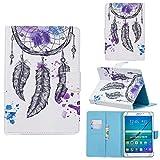 Universal Case for 7' Tablet, Funda de Piel Cubierta con Soporte para Tarjeta para Galaxy Tab Huawei Mediapad T3 7.0/ KOBO Aura H2O Edition 2/ RCA Voyager/Google Nexus 7 (Watercolor)