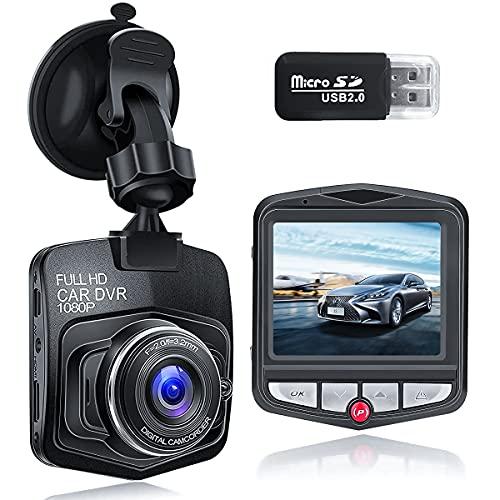 Dashcam Voiture GPS Full HD 1080P, | DVR | Vision Nocturne | Support Rotatif à 360° et Caméra de à 170°,Moniteur de Stationnement, Enregistrement en Boucle