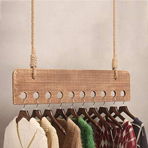 YLCJ Kapstok, wand, van hout, kledinghanger, kledingkast, organizer voor het opbergen van kleding, voor winkel, waskeuken, slaapkamer (kleur: # 2 – 100 cm)
