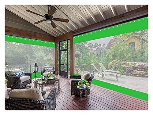 AWSAD Cortinas Exteriores, Adecuadas para Pabellones Balcones Ventanas, Impermeables y Cortavientos, Personalización de Soporte (Color : Green, Size : 2.4x3m)