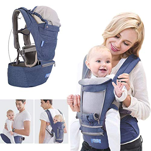 Baby Carrier, Baby Hip Seat Ergonomic, Breathable Front Multifunctional Protection for Baby Hip Carriers, Adjustable Size, Perfect for Hiking Shopping Travelling