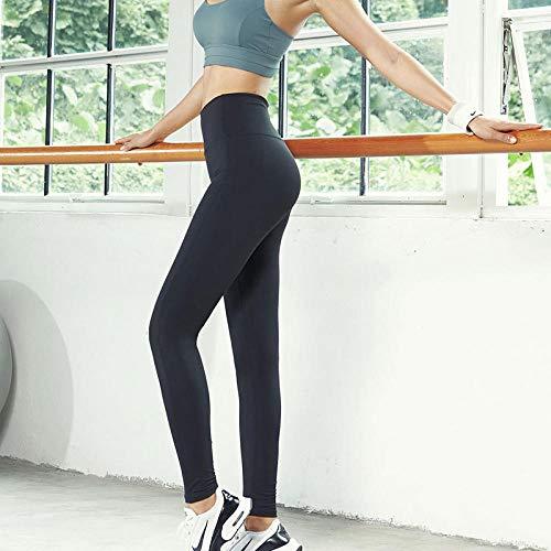 B/H Chic élégant Entraînement Sports Pantalon,Pantalon de Yoga Nude pour Femmes, Collants Taille Haute Respirants-Noir_XL