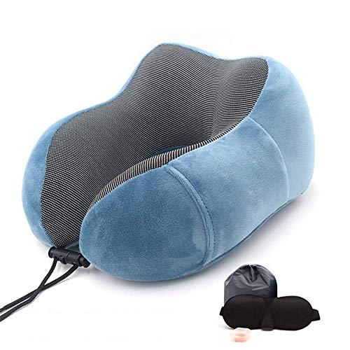 N/X Cuscini per Collo in Memory Foam a Forma di U 1PC Cuscino da Viaggio cervicale Morbido con Rimbalzo Lento