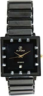 Casual Watch for Women by Olivera, Black, Square, OGC0002