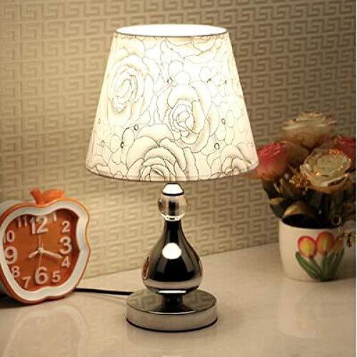 WWWL Lámpara Escritorio Dormitorio Europeo pequeña lámpara de Mesa Moderna Regulable LED lámpara de alimentación de Ahorro de energía, luz de Noche Ajustable Dimmerswitch