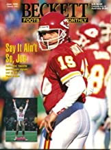 Beckett Football Monthly June 1995 Joe Montana/San Francisco 49ers/Kansas City Chiefs on Cover, Steve McNair/Alcorn State/Houston Oilers (on back cover), Barry Sanders/Detroit Lions, Eric Dickerson/Los Angeles Rams/Indianapolis Colts