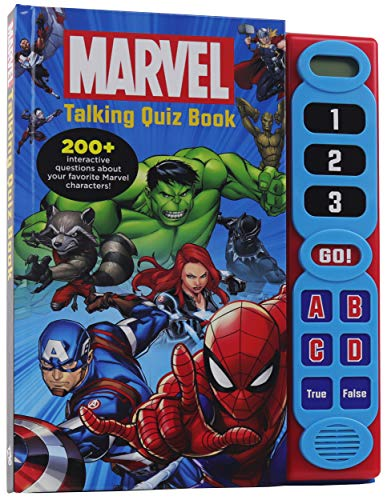 Marvel - Talking Quiz Book - 200+ Interactive Questions and Answers - Spider-man, Avengers, and More! - PI Kids