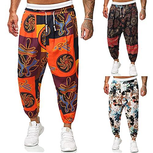 Zarupeng Männer Shorts Lang Hose Laufhose Sport Fitness Herren Camo Hosen Cargohose hose Overalls Hiphop Punk Pants Jogger für Jungen Army Male Camo Plus Size Camouflage Unisex Outdoors