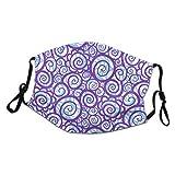 fivekim Pañuelo facial unisex con ondas rizadas abstractas y protección UV, reutilizable, media máscara de tela, bufanda, polaina para el cuello, pasamontañas para hombres y mujeres