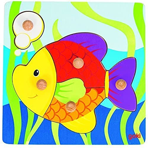 Goki Lift Out Puzzle Fish by ToyCenter