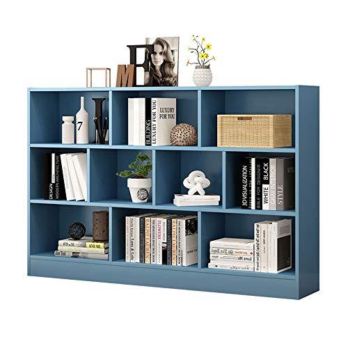 Muebles Estantería creativa de madera maciza Estantería de almacenamiento de madera de 4 niveles Estante de piso simple Gabinete de almacenamiento Organizador de CD independiente, ahorrador de espacio