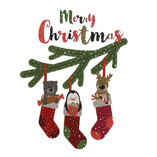 WeishenG Gut gemacht Nette Weihnachten Patch Tiere Patches für Kleidung T -Shirt Kleider Pullover Transfer Applique DIY Handwerk Dekoration(None Picture Color)