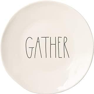 "Rae Dunn ""Gather"" Dinner Plate - 11"""