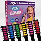 Hair Chalk for Girls – 10pcs Color Combs, Blue Squid, Vibrant Temporary Hair Color for Kids, Washable Hair Dye, Teenage Girls Gifts Ideas, Perfect 6 7 8 9 10 11 12 Girl Gifts