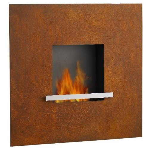 Arte Puro Bioalkohol-Kamin fire & Flame Cortenstahl