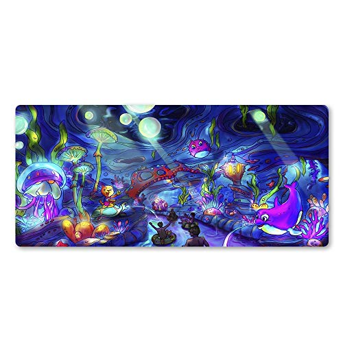 `Star Empty Mouse mat, Interesting Anime Sea Animal Rubber Locking Edge Large Mouse Mat PC Computer Laptop Mouse Pad (Color : 900x300x2)