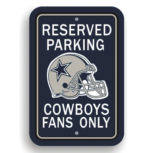 "Fremont Die NFL Dallas Cowboys Team Sign, 12"" x 18"", Reserved Parking Sign"
