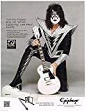 Epiphone Guitars - White Lightning Les Paul Outfit - Tommy Thayer of Kiss [Magazine Advertisement] - 2015