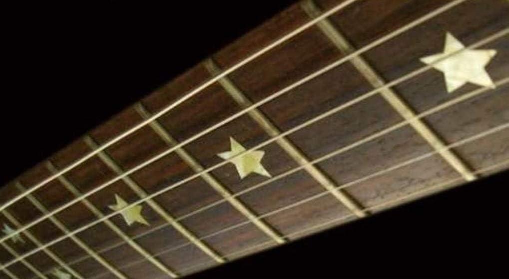 Stars Fret Markers Stickers Inlay Guitarra & Bass Pegatinas Diapason Guitarra (plata)