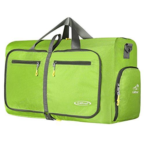 G4Free 60L Faltbare Reisetasche Duffle für Gepäck Gymnastik Sport mit Schuhfach Wasserdicht