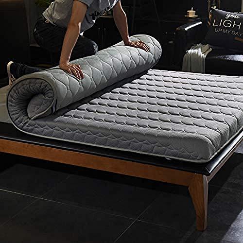 WENZHEN Colchon Plegable Invitados,Cojín de Dormir de Tatami de colchón de futón de Piso apanese para Invitados niños-UNA_120x190 cm (47x75 Pulgadas)