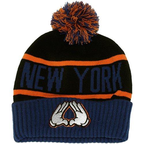 Cayler and Sons New York Pom Pom Bonnet Royal Bleu Orange Noir