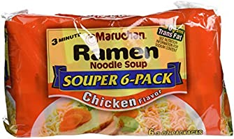 Maruchan Ramen Noodles Chicken Flavor, 3 Ounce, Pack of 6