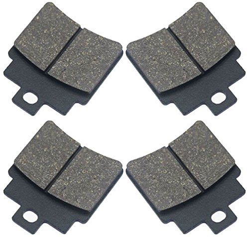 4-Pads Marken Bremsklötze Bremsbeläge Ersatzteil für/kompatibel mit Kymco MXU KXR 250 / Maxxer 250-300 hinten