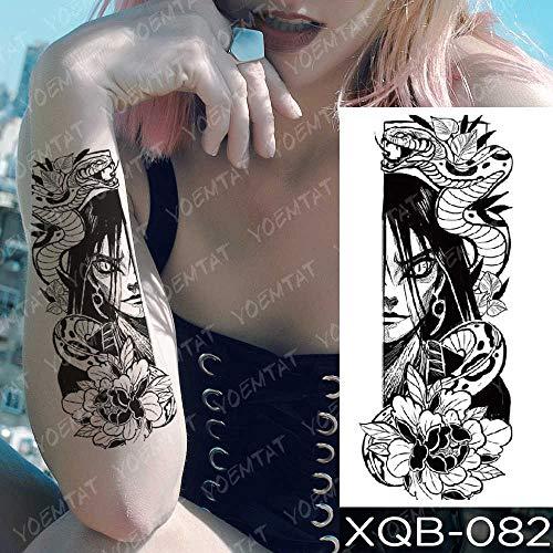 Handaxian 3PCS-Tatuaje Impermeable Pegatina Vieja Escuela búho Rosa Cabra Tatuaje Ancla Sirena Sirena Cuerpo Arte Brazo Tatuaje Mujeres hombres-03-XQB082