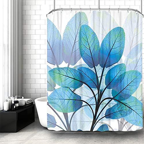 Lonior Duschvorhang Antischimmel Wasserdicht Duschvorhänge aus Stoff Antibakteriell Waschbar Badvorhang mit12 Duschvorhangringe für Badezimmer 180x180cm