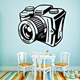 Hermosa etiqueta de la cámara papel tapiz de vinilo impermeable habitación de...
