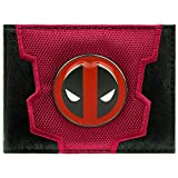 Cartera de Marvel Deadpool Logotipo de la insignia de la cara Wade rojo