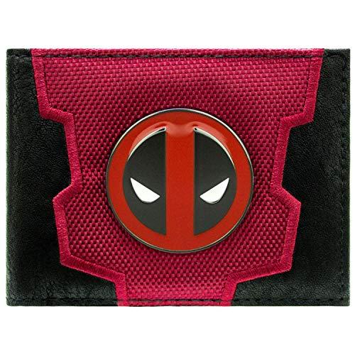 Marvel Deadpool Wade Gesicht Logo-Abzeichen Rot Portemonnaie Geldbörse