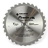 Black & Decker Piranha 230mm x 16mm 30T incurvé dents TCT Lame de scie circulaire