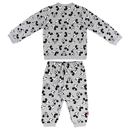 Artesania Cerda Chandal Mickey Conjunto de ropa, Gris (Gris C13), 36m para Bebés