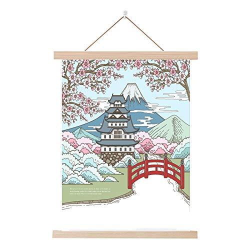 Japanischen Stil und Wind Stoff massivholz malerei Restaurant B & B Hause Schlafzimmer Wohnzimmer dekorative malerei FD 50x70 cm