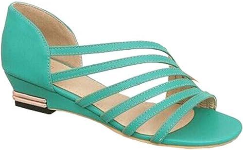 Xiuhong Shop Sandalias Romanas zapatos Casuales zapatos de Moda Plana